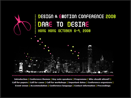 Design and Emotion Conference 2008 in Hong Kong